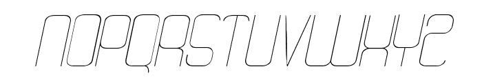 Quattro Thin Italic Font UPPERCASE