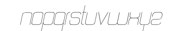Quattro Thin Italic Font LOWERCASE