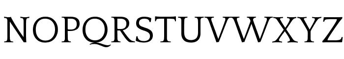 Quattrocento Roman Regular Font UPPERCASE