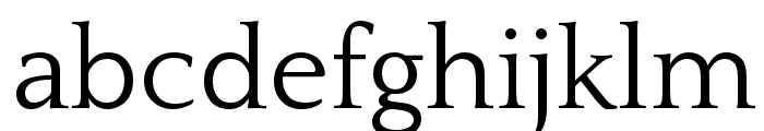 Quattrocento Roman Regular Font LOWERCASE