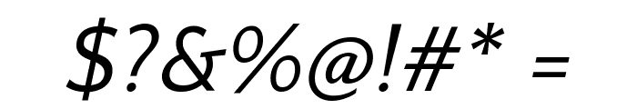 Quattrocento Sans Italic Font OTHER CHARS