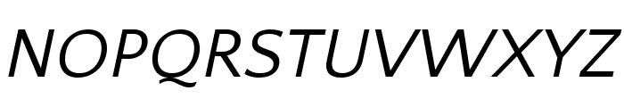 Quattrocento Sans Italic Font UPPERCASE