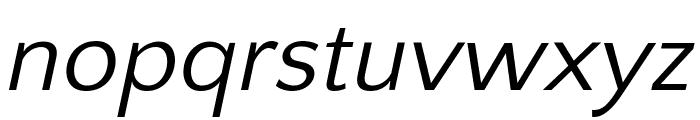 Quattrocento Sans Italic Font LOWERCASE