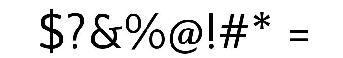 Quattrocento Sans Font OTHER CHARS