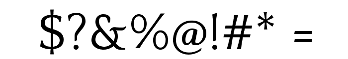Quattrocento Font OTHER CHARS