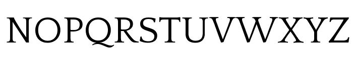 Quattrocento Font UPPERCASE