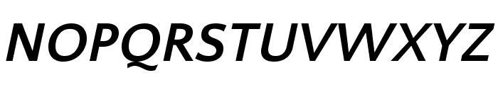 QuattrocentoSans-BoldItalic Font UPPERCASE
