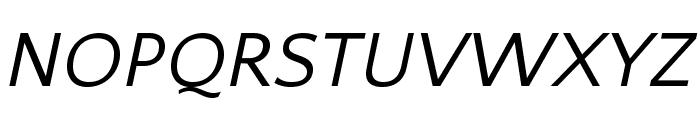 QuattrocentoSans-Italic Font UPPERCASE