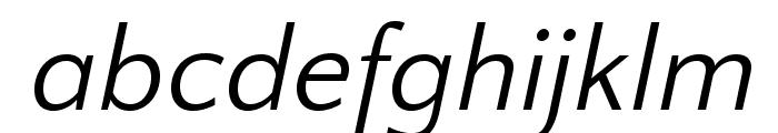 QuattrocentoSans-Italic Font LOWERCASE