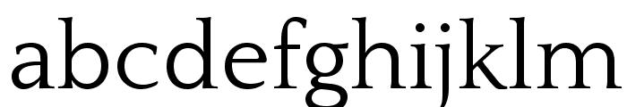 Quattrocento Font LOWERCASE
