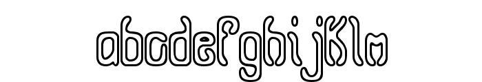 Queasy Outline BRK Font LOWERCASE