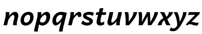 Quebec Bold Italic Font LOWERCASE