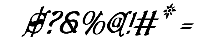 Queen & Country Condensed Italic Font OTHER CHARS