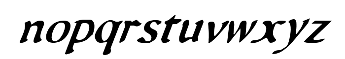 Queen & Country Condensed Italic Font LOWERCASE