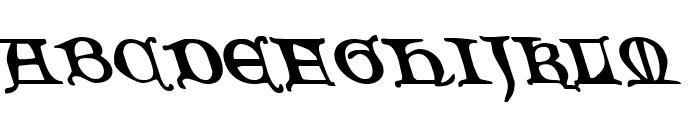 Queen & Country Leftalic Font UPPERCASE