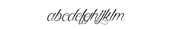 Queen of the Moon Light Font LOWERCASE