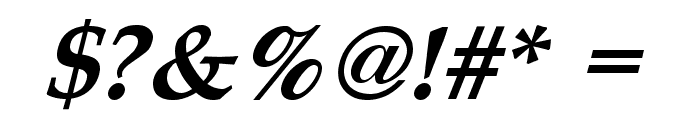 Queens Park Bold Italic Font OTHER CHARS