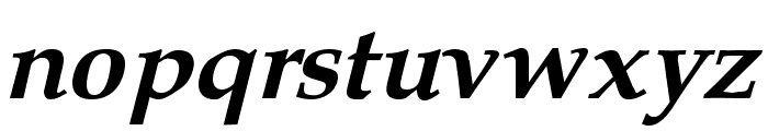 Queens Park Bold Italic Font LOWERCASE