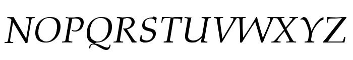 Queens Park Italic Font UPPERCASE