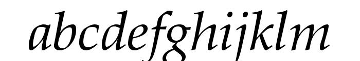 Queens Park Italic Font LOWERCASE