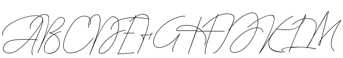 Queenstown Signature Font UPPERCASE
