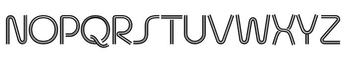 Quesat Striped Demo Font UPPERCASE
