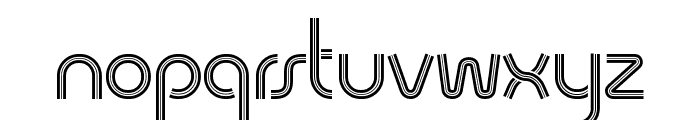 Quesat Striped Demo Font LOWERCASE