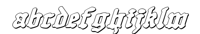 Quest Knight 3D Italic Font LOWERCASE