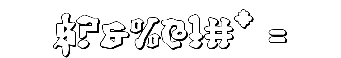 Quest Knight 3D Font OTHER CHARS