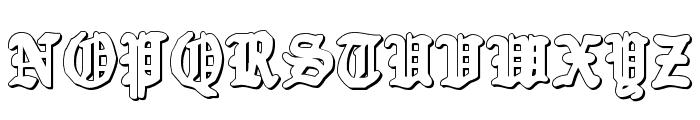 Quest Knight 3D Font UPPERCASE