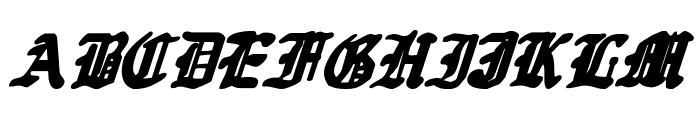 Quest Knight Italic Font UPPERCASE