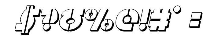 Questlok 3D Italic Font OTHER CHARS