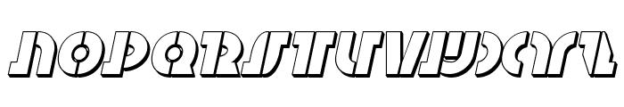 Questlok 3D Italic Font UPPERCASE