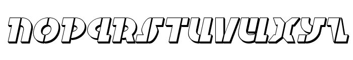 Questlok 3D Italic Font LOWERCASE