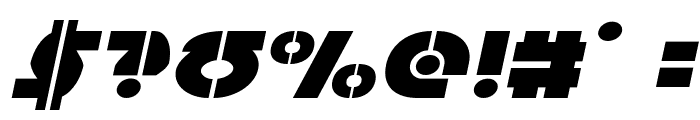 Questlok Expanded Italic Font OTHER CHARS
