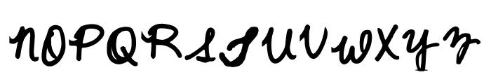 Quick Cursive Regular Font UPPERCASE