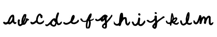 Quick Cursive Regular Font LOWERCASE