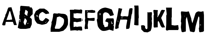 Quick End Jerk Font UPPERCASE