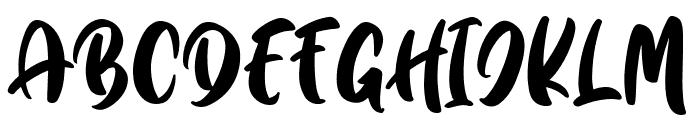 Quick Jump Font UPPERCASE