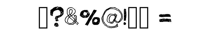 Quick Pencil Regular Font OTHER CHARS