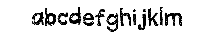 Quick Pencil Regular Font LOWERCASE