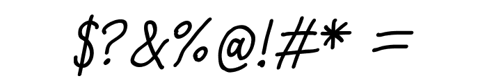 Quick Writing Italic Font OTHER CHARS