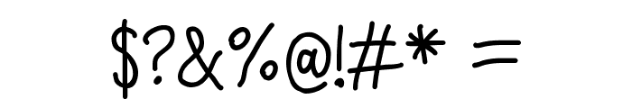 Quick Writing Font OTHER CHARS