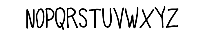 Quick Writing Font UPPERCASE