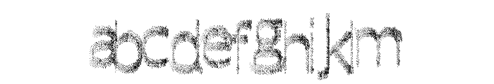 QuickFade Font LOWERCASE