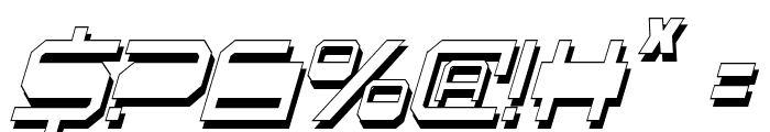 QuickGear Shadow ItalCon Font OTHER CHARS