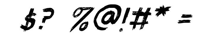 QuickPick-Italic Font OTHER CHARS
