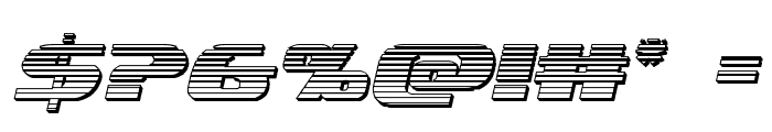 Quickening Chrome Italic Font OTHER CHARS