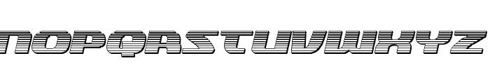 Quickening Chrome Italic Font UPPERCASE
