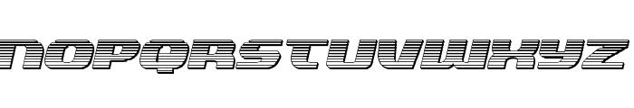 Quickening Chrome Italic Font LOWERCASE